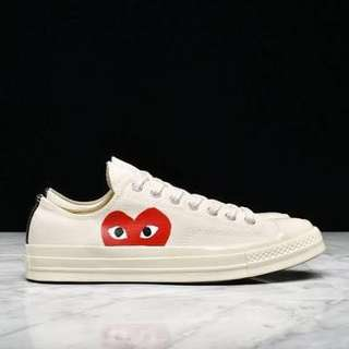 CDG PLAY CT70 LOW IN WHITE