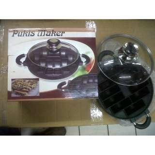 Snack Maker Cetakan Kue Import Bake Ware Murah Free Tutup Kaca