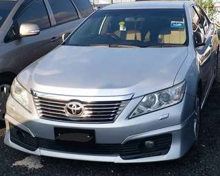 SAMBUNG BAYAR/CONTINUE LOAN  TOYOTA CAMRY 2.5 AUTO YEAR 2012 MONTHLY RM 1900 BALANCE 3 YEARS ROADTAX VALID LEATHER SEAT TIPTOP CONDITION  DP KLIK wasap.my/60133524312/camry