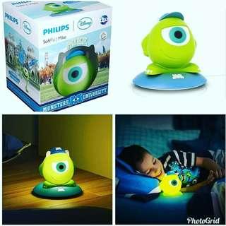 三眼仔擺設 ❤飛利浦 Disney SoftPal Mike 枱燈 - $165 /個  🔮現貨