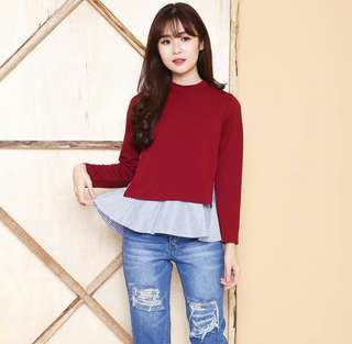 Red chic Top