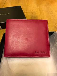 Paul Smith 羊仔真皮銀包,Made in Italy,全新保真
