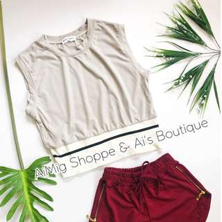 Boxer Cropped Top