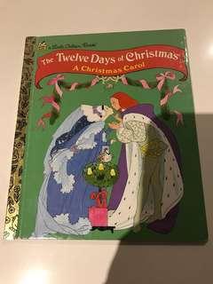 The Twelve Days Of Christmas - A Christmas Carol - Little Golden Book