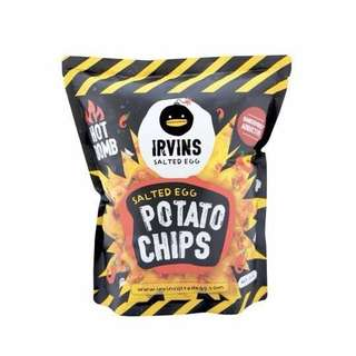 Irvins Salted Egg Potato Chips Hot Bomb 香辣鹹蛋薯片