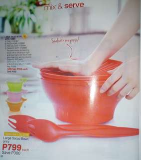 TUPPERWARE SALAD BOWLS AND BODY CARE PRODUCTS