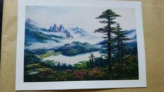 [中國旅遊畫派藝術館]手繪畫作一幅(雲景)