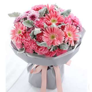 Gerbera Daisy and Carnations