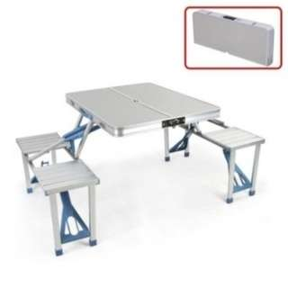 Outdoor Aluminum Folding Portable Tables Chairs