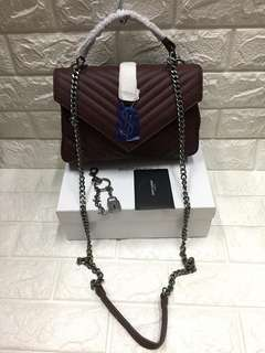 AUTHENTIC YSL  SIZE:W26×H17×D8cm. with box