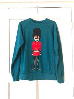 Skelly Pullover royal guard in teal