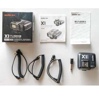 神牛 Godox X1C 引閃接收器 CANON 專用 閃光燈 接收器 TTL 全配版