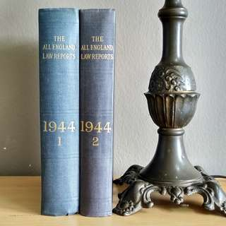 Vintage Complete 1944 (Vol. 1 & 2) The All England Law Reports Hardcover Books  -  AER 1st Edition