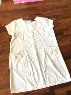 Korean white dress L size
