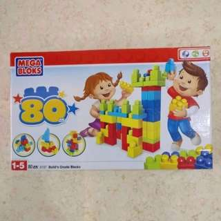 (Pre-loved) Mega Bloks Build'n Create 80 pieces (Age 1-5)