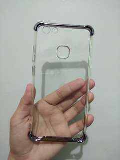 REPRICE‼️ Vivo V7 plus ShockProof Silicone Clear Case (Clear Gray)
