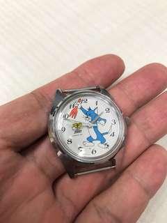 古董 美品精工Tom & Jerry 手上鍊手錶