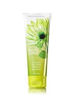 Signature Collection White Citrus Ultra Shea Body Cream- Bath And Body Works