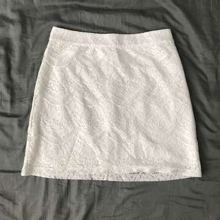 Terranova White Lace Skirt