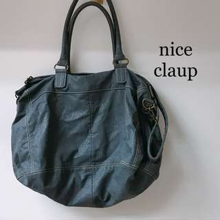 Nice claup blue bag 藍色側袋