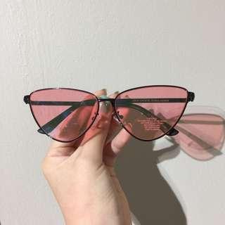 Vintage Pink Cateye Sunglasses