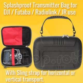 🚚 Splashproof Zipper Transmitter Bag / Carrying Case for Futaba / RadioLink / DJI / JR and most standard transmitter use. Code: TX-CASE