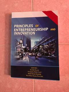 Principle of entrepreneurship and innovation