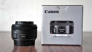 Canon EF 50mm F1.8 STM Second Like New