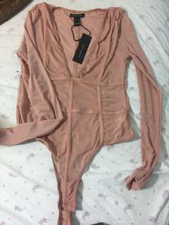 Mesh bodysuit dirty pink sz medium