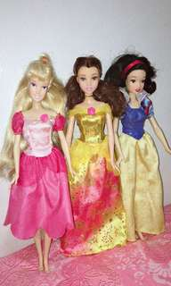 Princess Barbie dolls