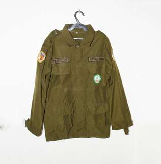 ROTC ARMY JACKET WITH PATCHES