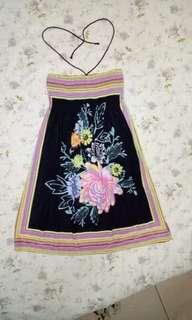 Maxi print Tube dress