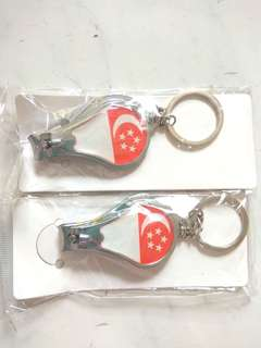 New! Singapore flag Key Chain