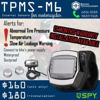 SPY TPMS M6 External Sensors for Motorcycles