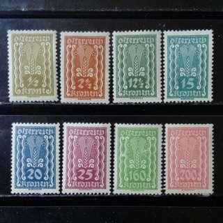 [lapyip1230] 奧地利共和國 1922年 原膠新票無背貼 MNH