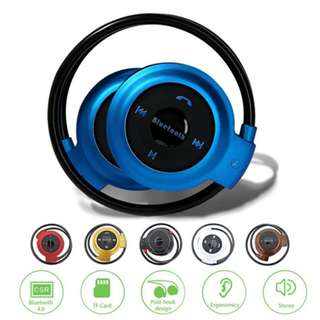 Bluetooth Wireless Headset With Memory Card Slot