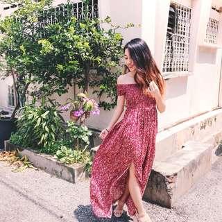 GSS SALES ‼️ Bohemian Floral Maxi Dress