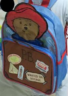 Preloved: Original Paddington Bear Toddler Bagpack like new!!
