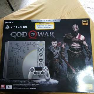 Ps4 Pro God of war Limited edition w/ 3 physical Games