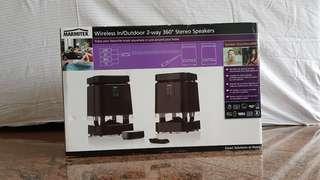 Wireless Stereo Speakers In/Outdoor 2-way 360°