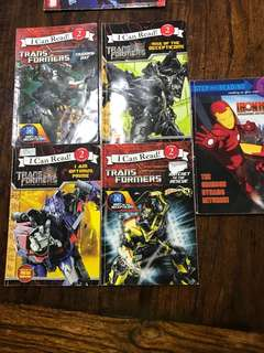 Transformers ( I can read books) for children x5