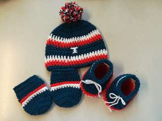 Crochet Newborn Baby Football Apparel