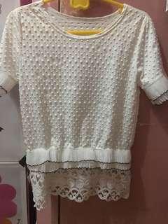 White korean blouse