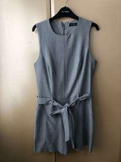 PRICEDROP!! Miss Selfridge Gray Linen Playsuit