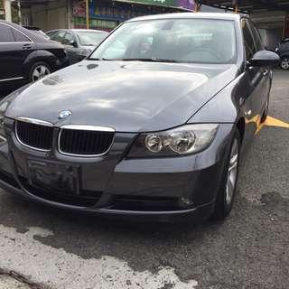 2006年BMW E90 320i 頂級天窗 女用車實跑12萬