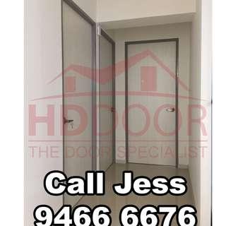 HDDoor the Bedroom door with Lever lock stopper install