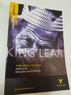 Literature Guidebook: King Lear - York Notes Advanced