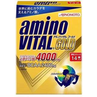 🚚 日本 Amino Vital GOLD 14包 配合9種必需胺基酸4000mg的運動營養補給品