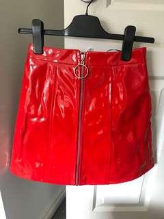 Red tube skirt