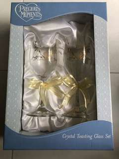 Brand New Precious Moments Wine Glass in Box